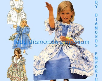 Style 2604 Girls Special Occasion Dress size 3 4 5 6 7 8 Weddiing Party Dress Flower Girl Princess Dress Vintage Sewing Pattern Uncut FF