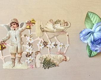 Vintage Christmas Die Cuts - Snow Angels - Holiday Crafts - Scrapbooking