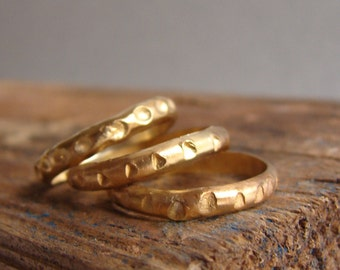 Gold Ethnic Sterling Silver stacking rings Gifts for Her Statement Jewelry