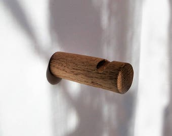 Oak Hooks, Wood Hook, Rustic Hook, Cabin Hook, Modern Wall Hook, Towel Hook, Handbag Hook, Live Edge Holder, towel rack Branch, Hat Hook_039