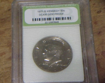 No Listing 1971-S Kennedy Half Dollar