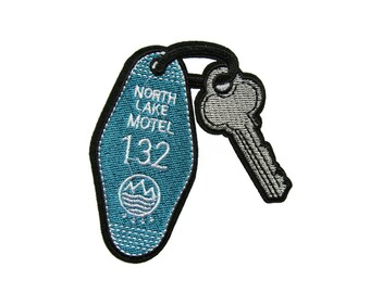 Key Embroidered Applique Iron on Patch