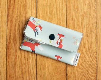 Foxes  - Vinyl Card Wallet