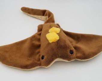 MADE to ORDER! ~ Manta Ray Sea Pancake Stingray plush toy!