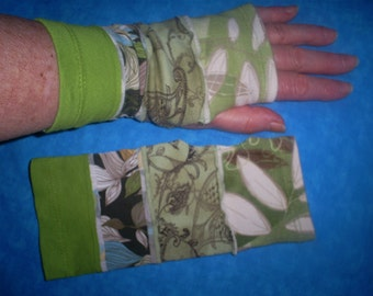 SALE  Recycled, short wrist warmers. Was 12.00.