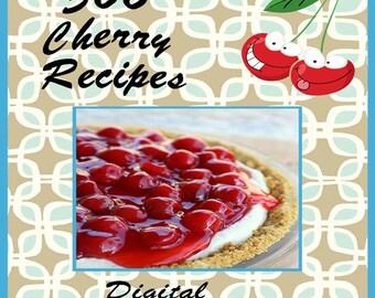 366 Cherry Recipes E-Book Cookbook Digital Download