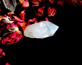 ONE Tibetan Quartz Crystal Point - Terminated Healing Crystals From Tibet, Specimens, Tibetan Black Quartz, Energy Crystal,Om Energy, A13