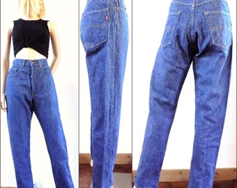 Womens high waisted vintage jeans high rise tapered leg mom jeans Liberto jeans size 29 inch waist/74cms