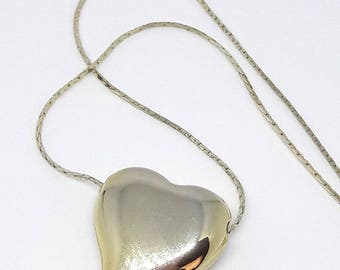Vintage Golden Heart Charm Necklace