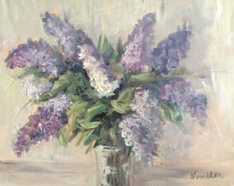 Lilacs Painting Original Oil Floral Painting 16 x 20""