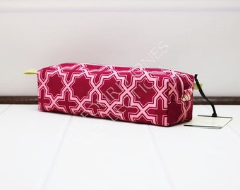Makeup Brush Bag - Travel Toothbrush Pouch - Cosmetic Bag - Knitting Notions - Zipper Pouch - Boxy Pouch - Joel Dewberry - Gift for Mom