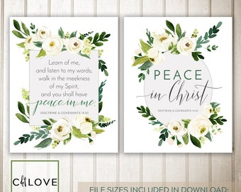 2018 LDS Youth Theme - Peace in Christ - All Sizes INSTANT DOWNLOAD -  D&C 19:23
