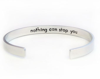 Hidden Message Bracelet Hand Stamped Cuff, Secret Message, Cuff Bracelet, Handstamped Lightweight Aluminum