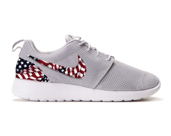 4097b5a6d4c6 ... new zealand new nike roshe run custom red white blue american flag  edition mens shoes sizes