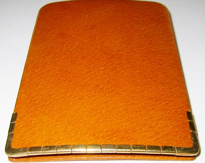 Vintage.. 9CT Solid Yellow Gold, Edged/Trimmed Cigar/Cigarette Holder Case.