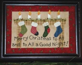 Little Stitchies - Christmas Stitchery Pattern - Christmas Stockings by Bareroots - Christmas Pattern