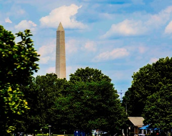 Washington Monument over Harbor