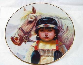 "Vintage GREGORY PERILLO 8"" Art Plate ""Kindred Spirits"" 1986"