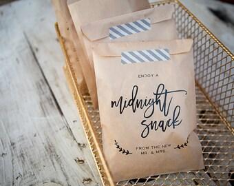 20 sacchetti / / sacchetto di carta del mestiere di Snack di mezzanotte / / favore Bag / / Wedding Bag favore