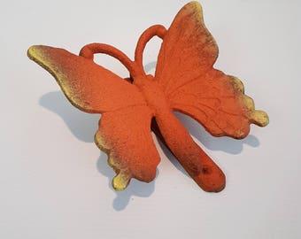Door knocker butterfly cast iron butterfly