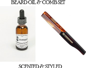 Beard Oil and Comb Kit - Gift Set