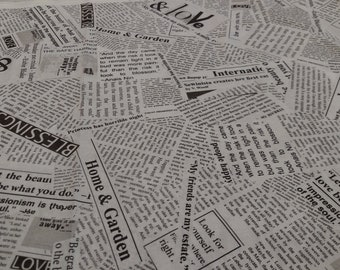 Newsprint sold by the yard