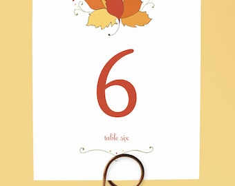 Fall Wedding Table Numbers, Fall Leaf Table Numbers, Autumn Wedding Table Numbers, Autumn Table Numbers, Table Numbers, Fall Wedding Decor