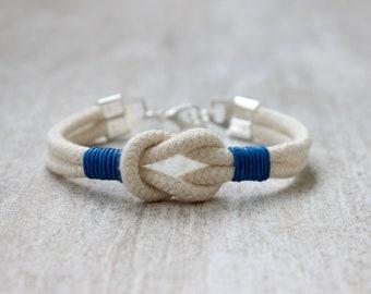 Mens Bracelet, Cotton Anniversary Gift for Him, Birthday Gift for Men, Boyfriend Gift, Infinity Love Bracelet Cotton Rope Bracelet Mens Gift