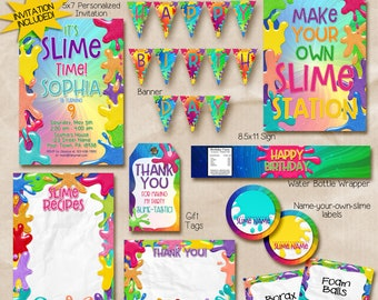 Slime party invitation / Slime invitation / Slime birthday party invitation
