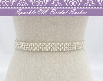 Jeweled Bridal Sash, Bridal Belt, Bridal Sash, Pearl Bridal Sash, Wedding Dress Belts, Rhinestone Sash Bridesmaids Sashes Beaded Bridal Belt