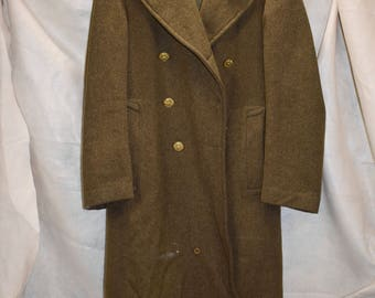 Mid-Century vintage US Army wool trenchcoat