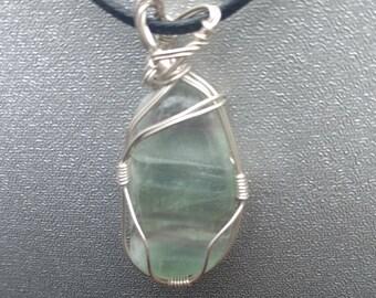 Fluorite Sterling Silver Wire Wrap