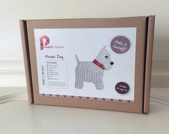 DIY Mosaic Craft Kit - Dog Art Kit - Kids Craft - Craft Gift - Dog Gift