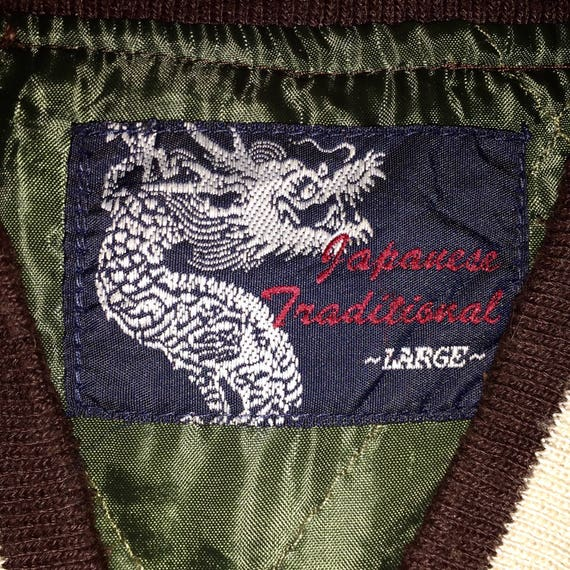 Japanese Vintage Dragon Traditional Zipper Fighting Dragon Jacket Rare Japanese Souvenirs Bomber Embroidery Sukajan BwUzO6Z