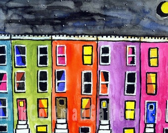 Pastel Row - 14 x 11 signed and limited reproduction on polymer