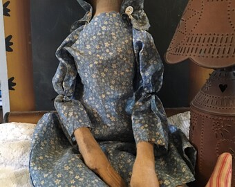Farmhouse Primitive Prairie Doll Folk Art