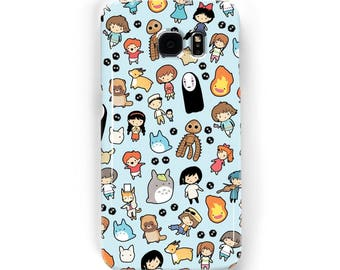 Studio Chibi Pattern ~ Studio Ghibli ~ iPhone / Samsung Galaxy Phone Case Cover