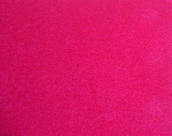 Iron on pink magenta flock velvet sheet