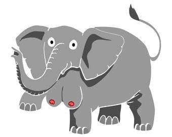 Elephant Tits Print *FREE UK DELIVERY!*