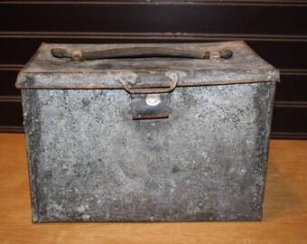 Vintage Metal Storage Box - item #2836