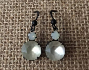 White Opal Swarovski Earrings