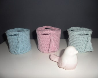 Trio of pastel colors crochet weave