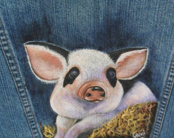 This Little Piggie Denim Jacket.