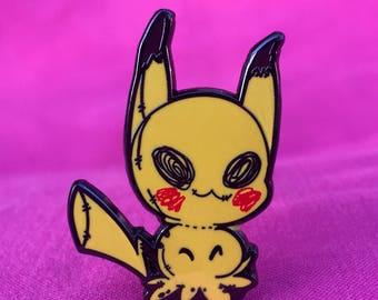 Mimikyu Pokemon Anime Japanese Cute Black Hard Enamel Pin Lapel Pin RootisTabootus Illustrations Art