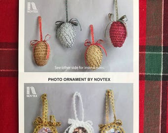 Pinecones and Photo Ornaments by Novtex
