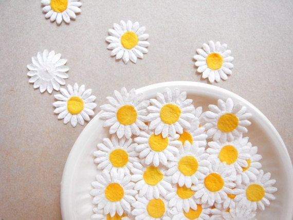 Daisy mulberry paper flowers embellishments for card making like this item mightylinksfo Gallery
