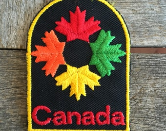 Canada Vintage Travel Souvenir Patch by Voyager - New in Original Package