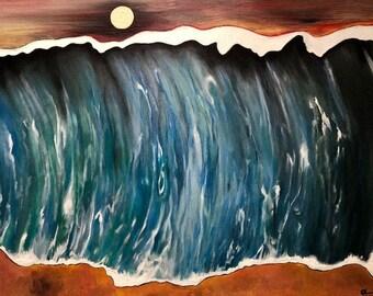 Calm Before the Storm, original artwork