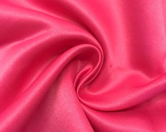 "Fuchsia Matte Satin (Peau de Soie) Duchess Fabric Bridesmaid Dress 60"" Wide Sold BTY"