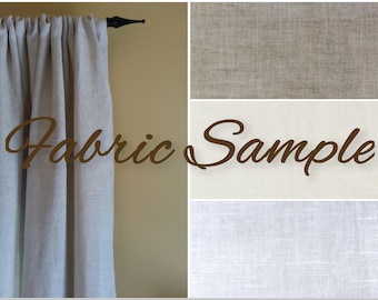 Fabric Sample for Extra Wide 100% Linen Curtains